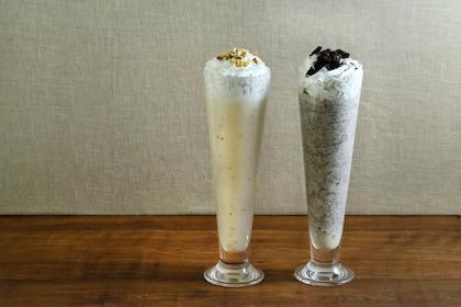 ピーナッツバターミルクセーキ/チョコチップミルクセーキ
