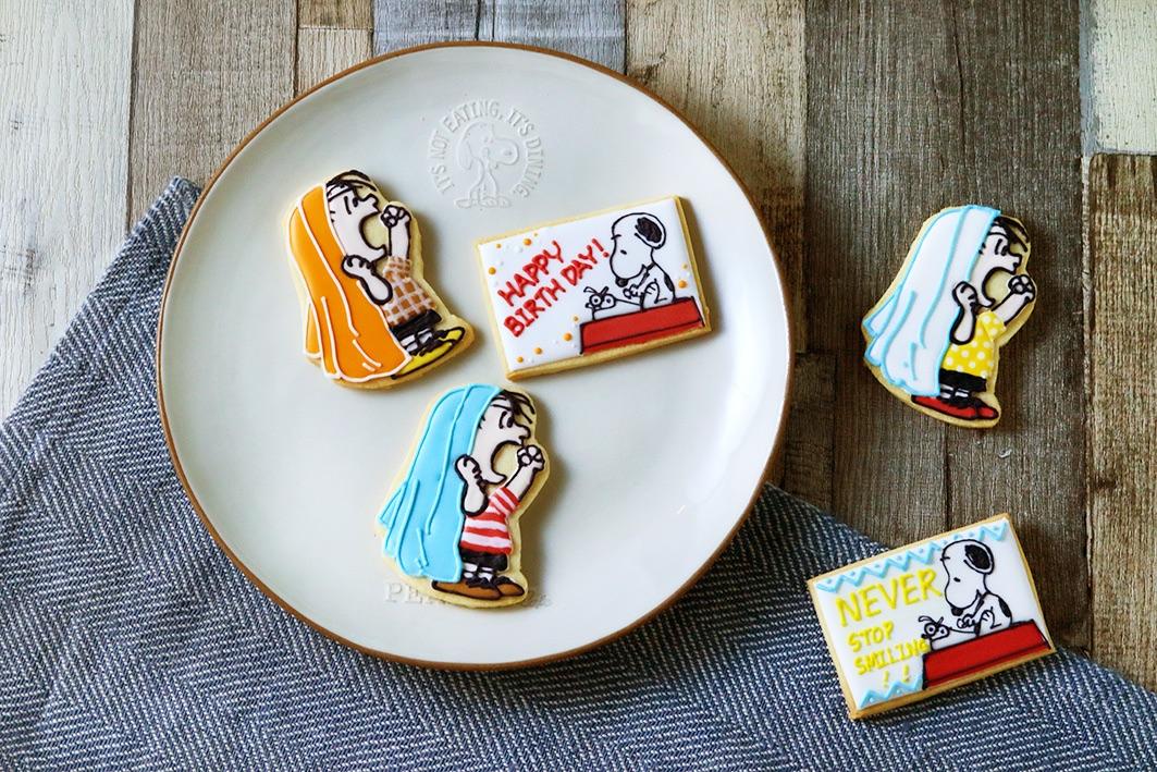 「スヌーピーとライナスのアイシングクッキーを作ろう!」ワークショップ