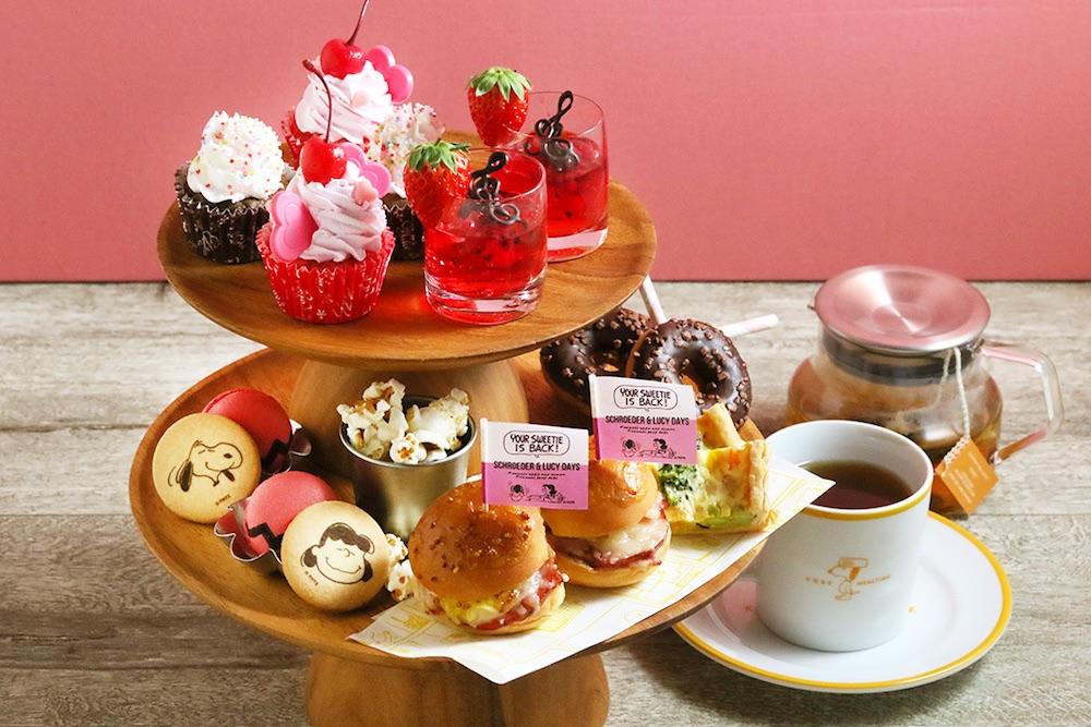 PEANUTS Cafe 中目黒、PEANUTS DINER 横浜で提供する「ティーパーティーセット」