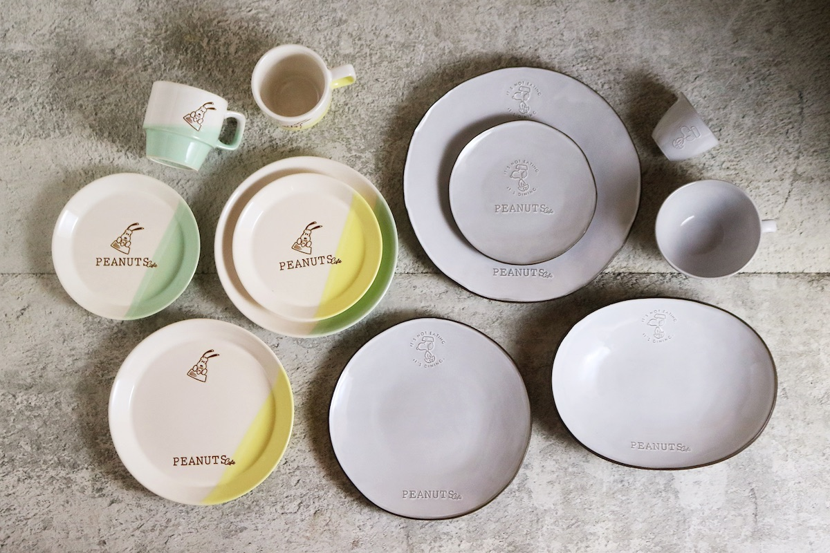 PEANUTS Cafe 中目黒のリニューアルを機にデザインを一新した、人気アイテムのテーブルウェア