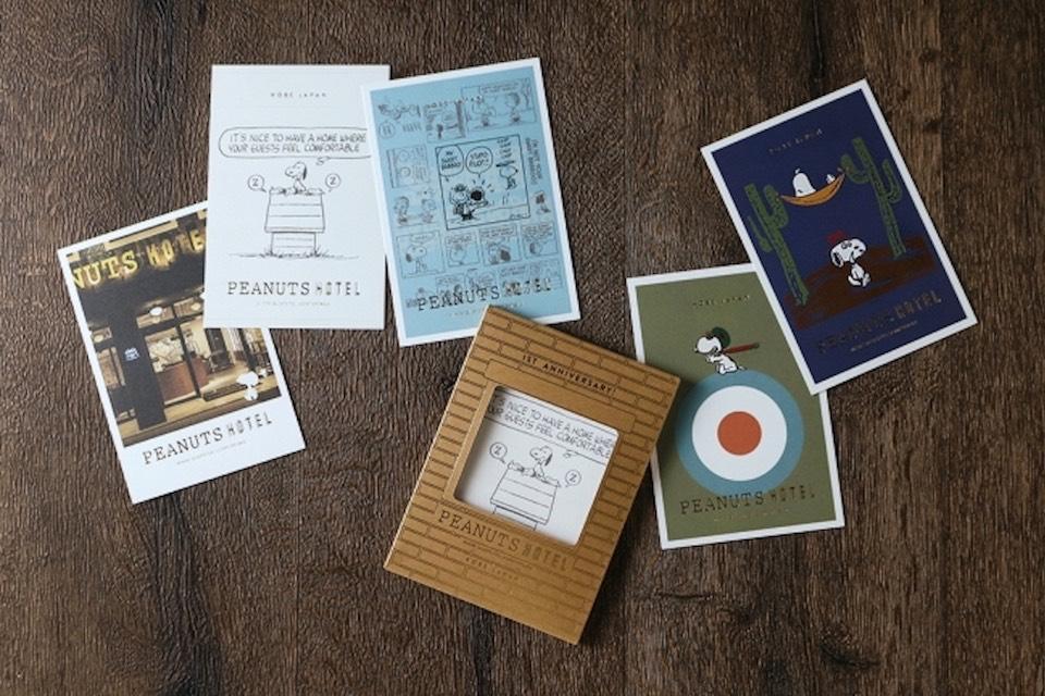「PEANUTS HOTEL」オープン1周年を記念したポストカード