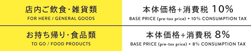 消費税率改定に伴う価格変更のご案内
