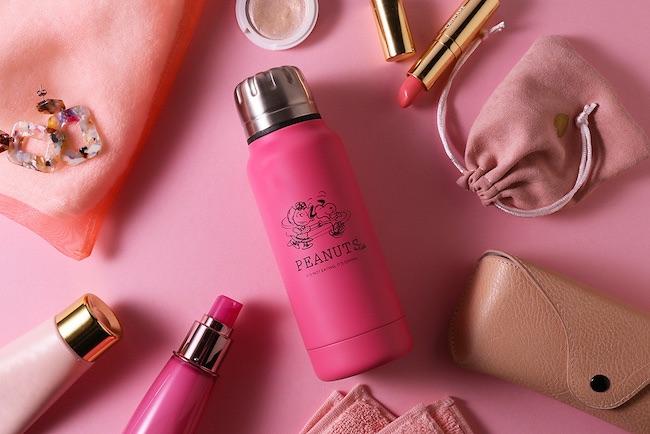 【オンラインショップ限定】「PEANUTS Cafe × thermo mug」アンブレラボトルミニに新色ピンクが登場!