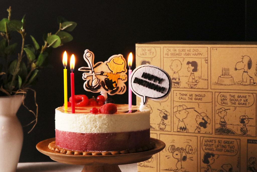 """【オンラインショップ限定】""""おうちバースデー""""をスヌーピーと一緒に楽しめる誕生日ケーキ"""
