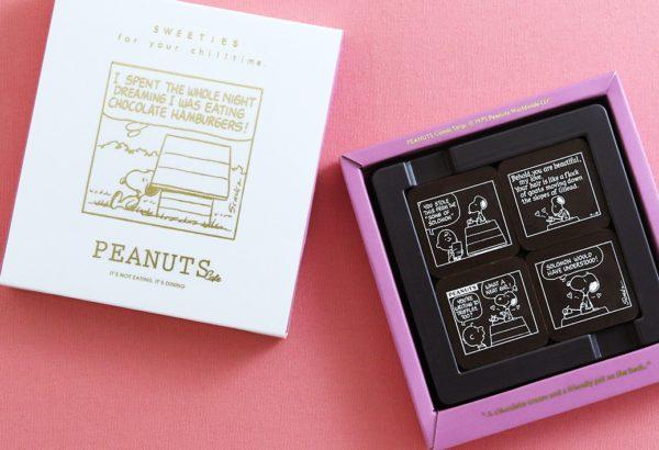 """スヌーピーが描かれた""""ベルギーチョコレート"""