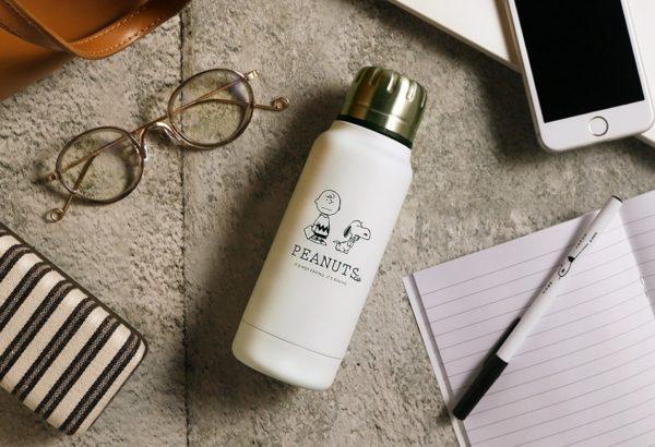 PEANUTS Cafe × thermo mug」アンブレラボトルミニ